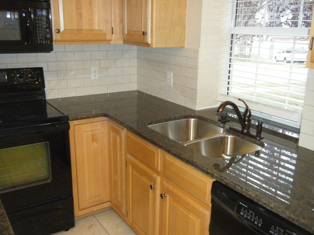 Tropic Brown Granite Counter top with Tile Backsplash  Flickr  Photo