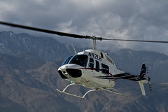 Helicopter Over Mountain