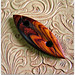 Small photo of Cocobolo Wood Tatting Shuttle