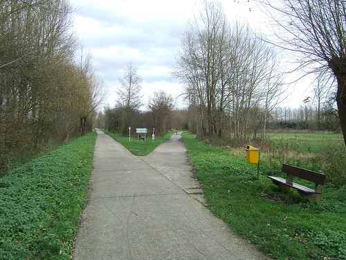 Old junction on disused railway