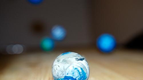 Blue bouncing balls