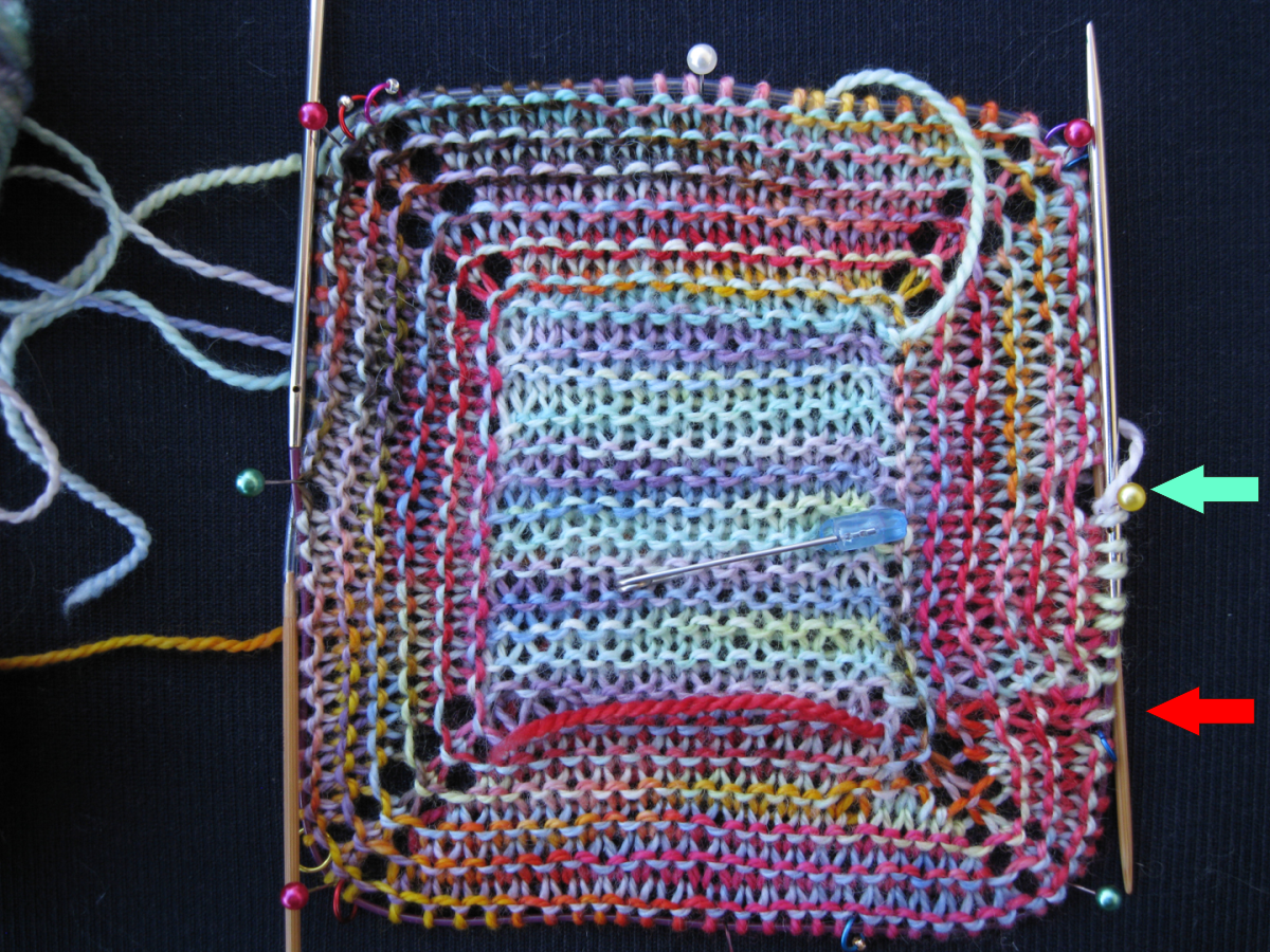Knitting Garter Stitch In The Round Jogless : Fleegle s no purl garter stitch in the round