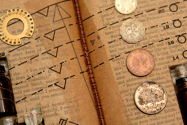 Altered Book The Alchemy Of Existence Detail Flickr Photo Sharing