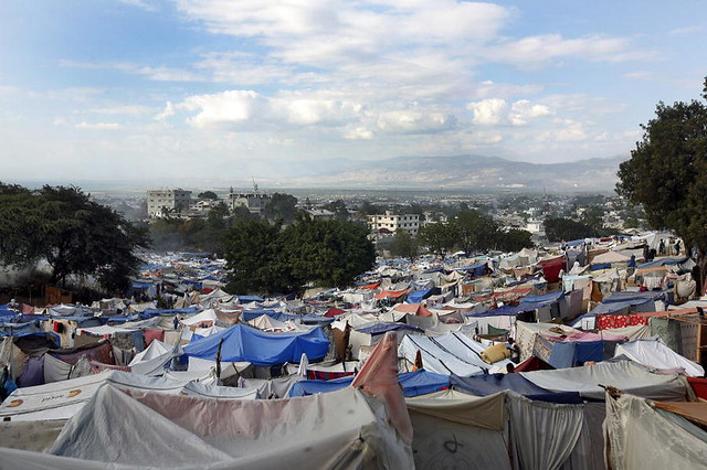 Estimated 50,000 Haitians Set Up Camp on Port-au-Prince Golf Grounds