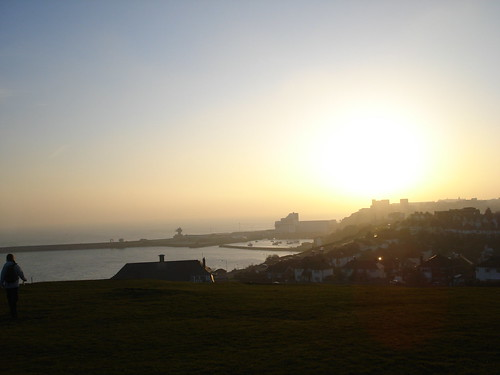 Sunset over Folkestone