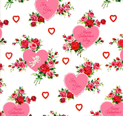 vintage valentines day gift wrap - Valentines Day Wrapping Paper