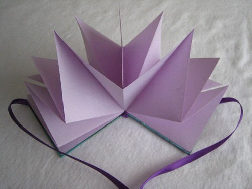 purple marbled star book