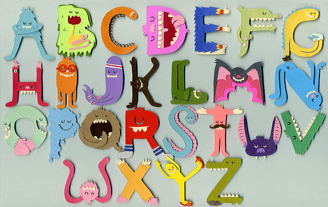 The Gallery For R Love Alphabet Wallpapers: Monster Alphabet Wallpaper