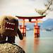 Domo-kun Observes High-Tide at the Torii Gate of Itsukushima Shrine, Miyajima by torode