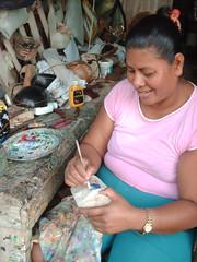 Doña María pintando