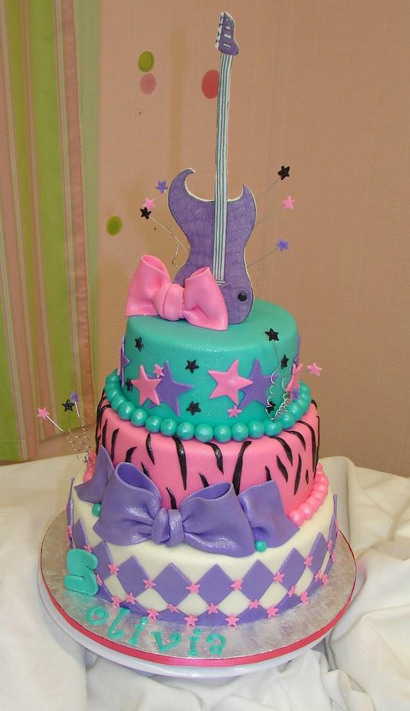 Olivias Rock Star Birthday Cake A Photo On Flickriver