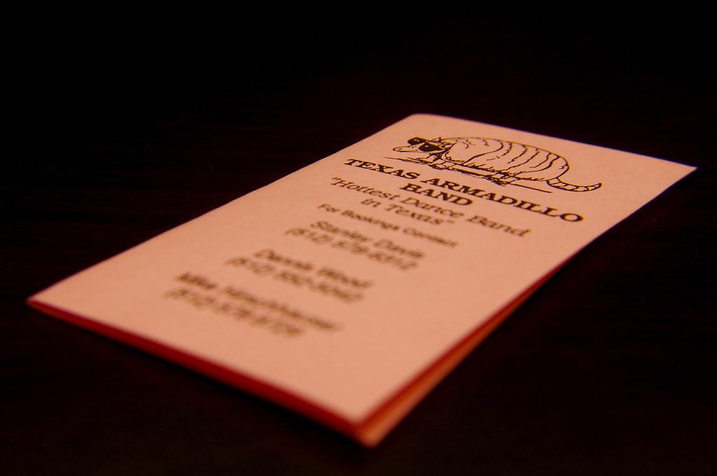 1988 Texas Armadillo Band Schedule