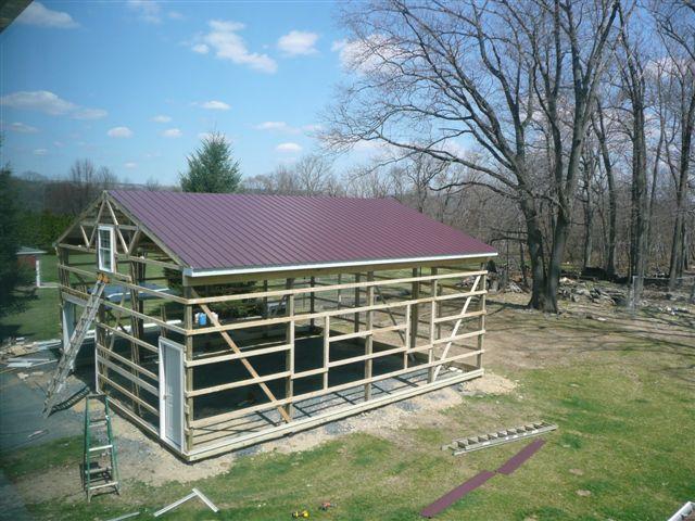 Diy Metal Barns : Diy pole barn flickr photo sharing