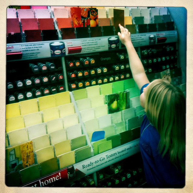 picking paint colors at home depot