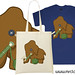 knitting woolly mammoth tshirt project bag