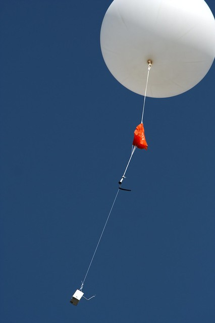 Radiosonde launch.  Image credit: Laikolosse (CC-BY-NC).