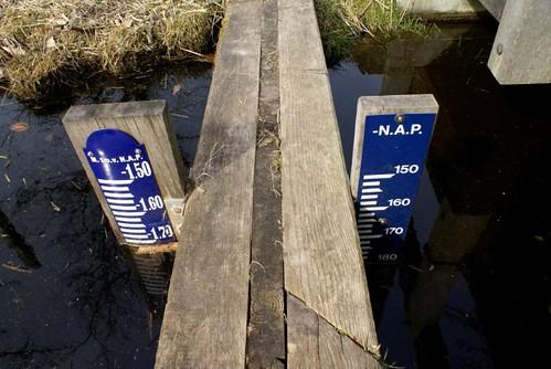 Peilschalen bij dam