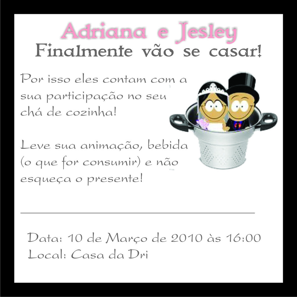 Convite Chá Bar A Photo On Flickriver