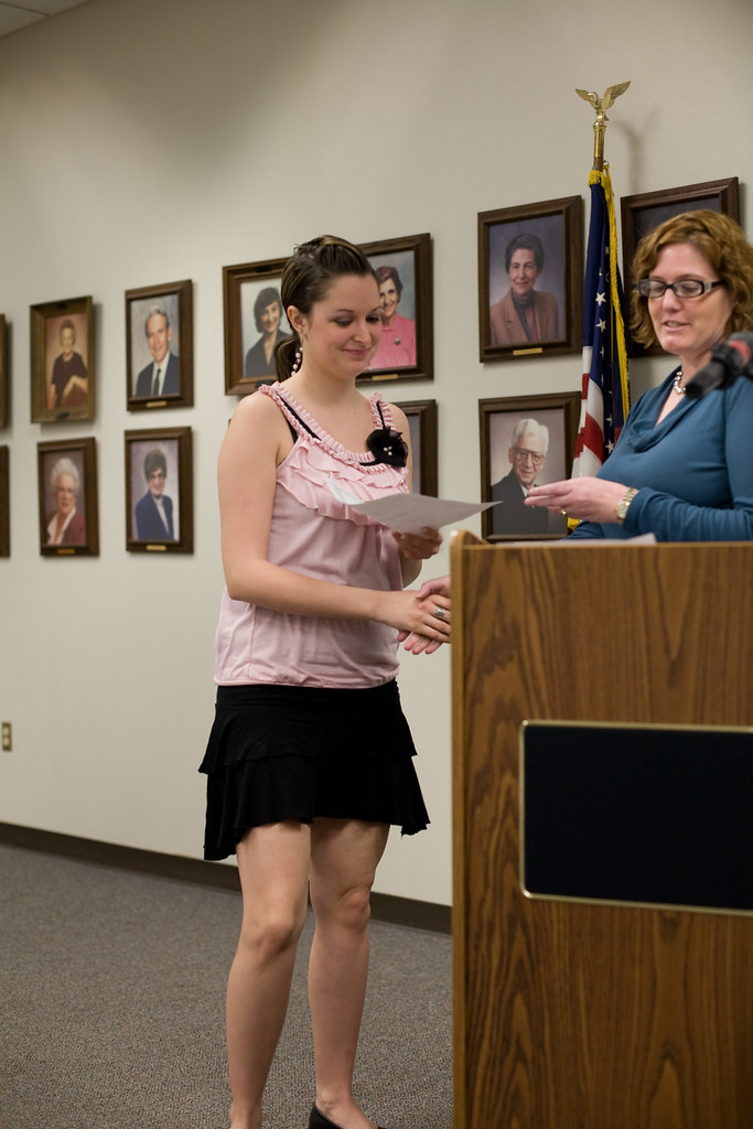 Psychology major Amber Howell receives a scholarship at IU Kokomo