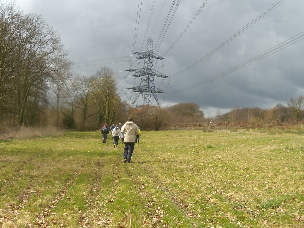 A pylon looms Bures to Sudbury