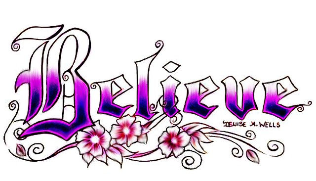 Gallery For gt Drawings Of The Word Believe