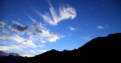 sunset newzealand mountains