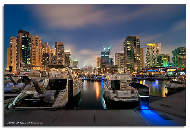 Cloudy Blue Hour - Dubai Marina