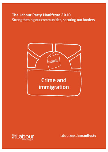 Labour Party manifesto:  crime and immigration