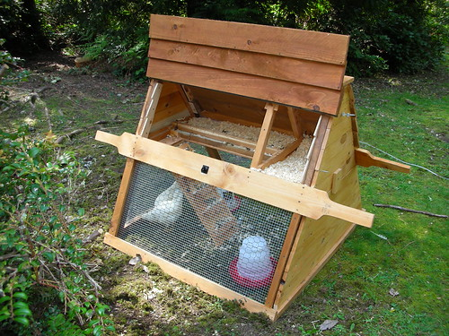 Catawba converticoops urbane coop plans for urban chickens for Diy portable chicken coop