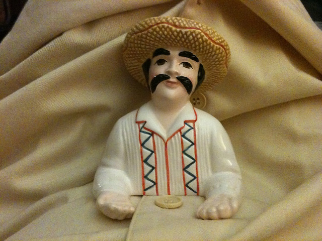 Mexican man salt shaker