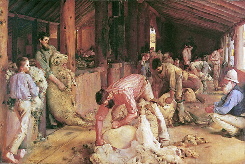 Roberts, Tom (1856-1931) - 1888-1890 Shearing the Rams (National Gallery of Victoria, Australia)