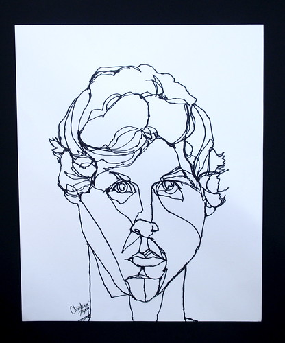 Contour Line Drawing Faces : Contour drawings art with korb
