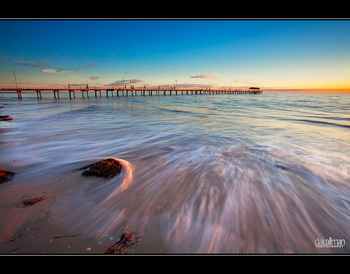 ocean sunset sky cloud seascape motion seaweed nature water clouds seashells canon sand waves jetty shell australia wideangle explore adelaide southaustralia frontpage 1740 henleybeach henleybeachjetty henleyjetty canon5dmkii 5dmkii daleallman