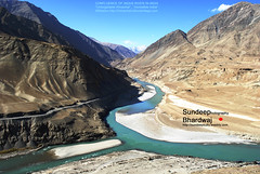 13-10-08 217 CONFLUENCE OF INDUS RIVER mJ by SDB Fine Art Travel of 2 Decades to 555+ Places Ph