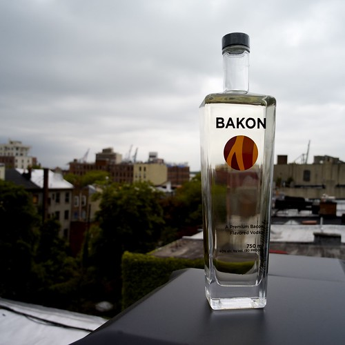 Bakon flavored vodka. Mmmmmm, yuck.
