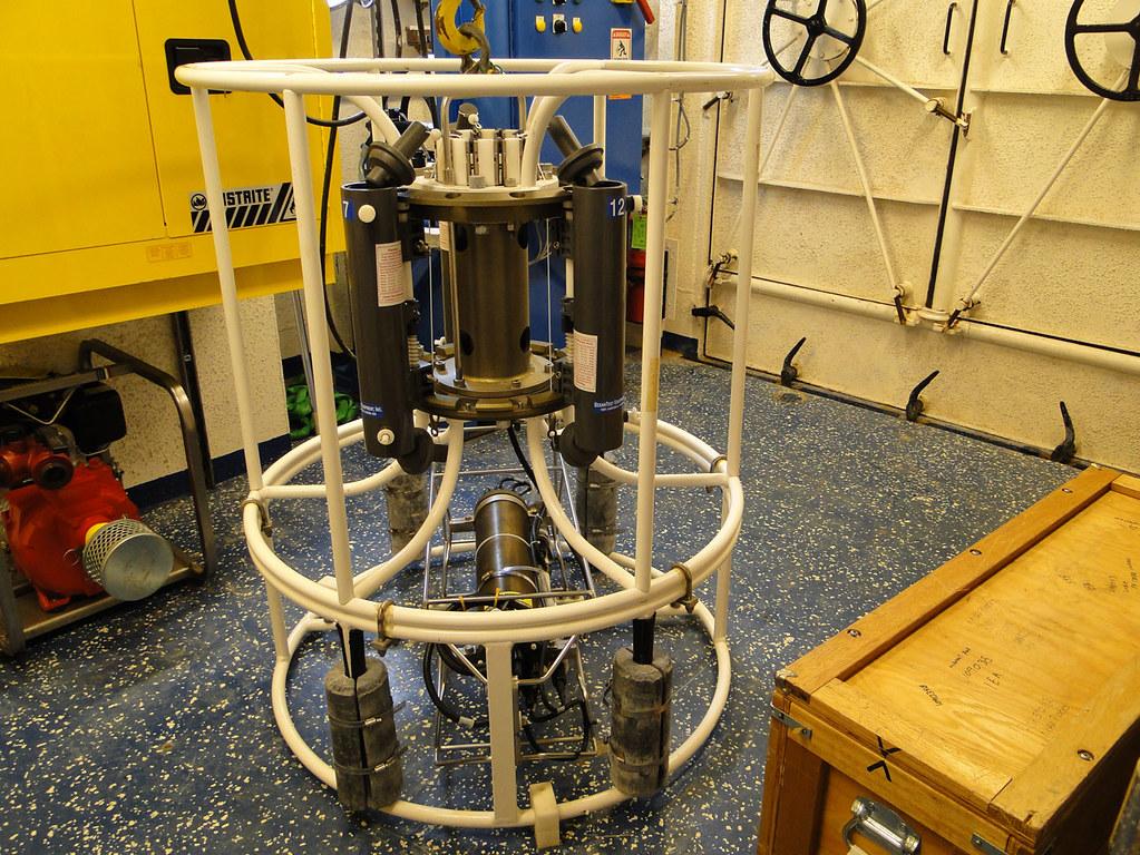 Water-sampling Equipment on the R/V Pisces | Water-sampling