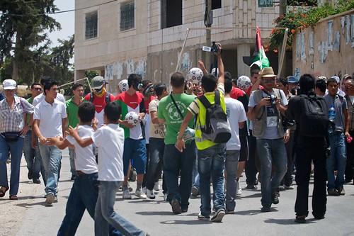 Palestinian National Soccer Team - Bilin Demonstration