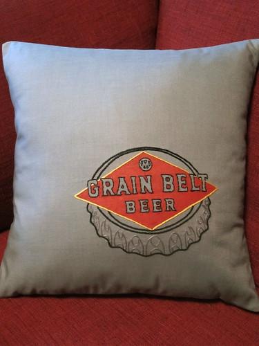Grain Belt Beer Pillow
