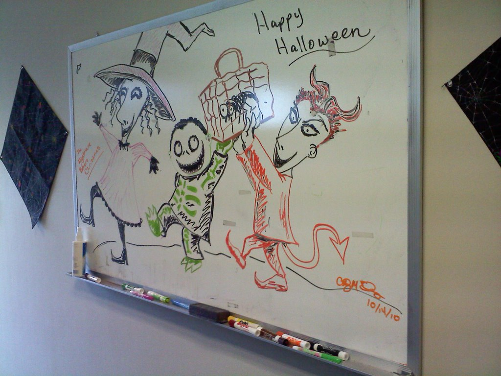 Whiteboard Drawing Nightmare Before Christmas My Coworke Flickr