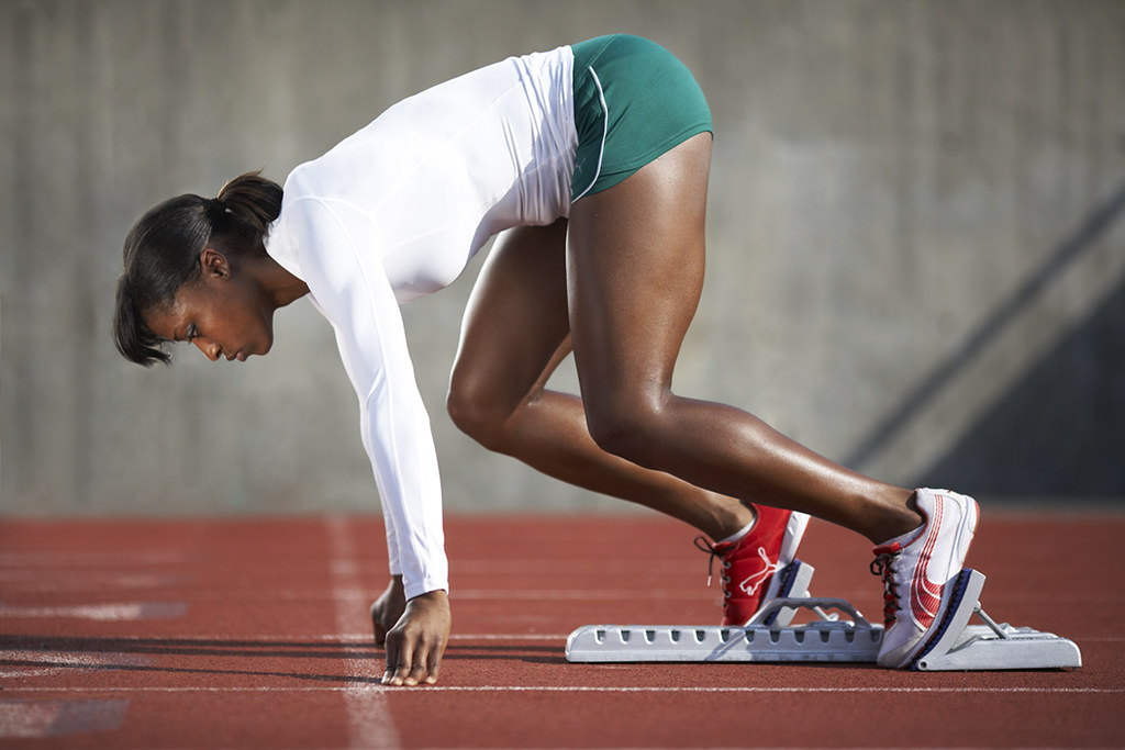 Female Track And Field Sprinter Photo By Monte Isom Monteisom