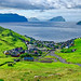 View over Kvivik on the faroe Islands by baldheretic