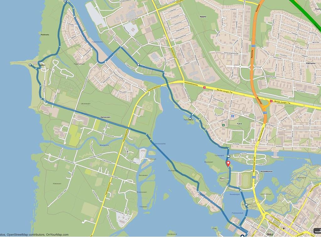 Oulu pyöräilykartta