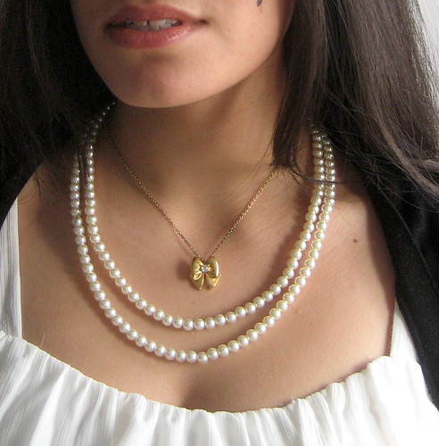 pearls and bow