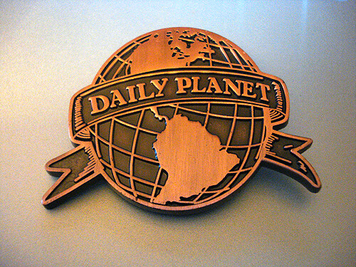 daily planet logo badge - a photo on flickriver