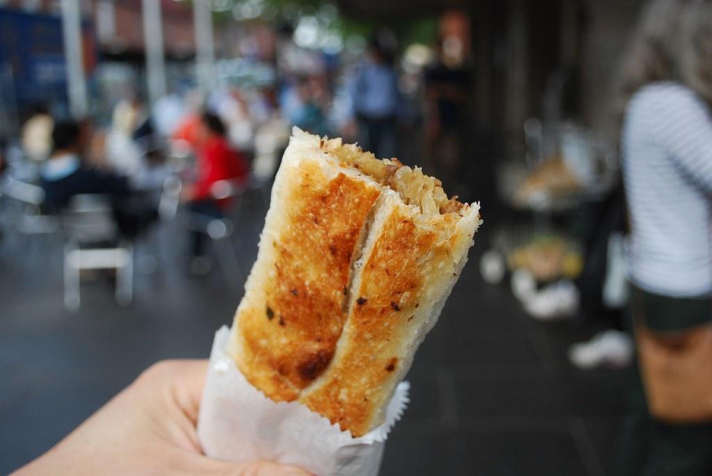 Spicy Lamb Borek - Turkish food stall, Queen Victoria Market AUD2.50