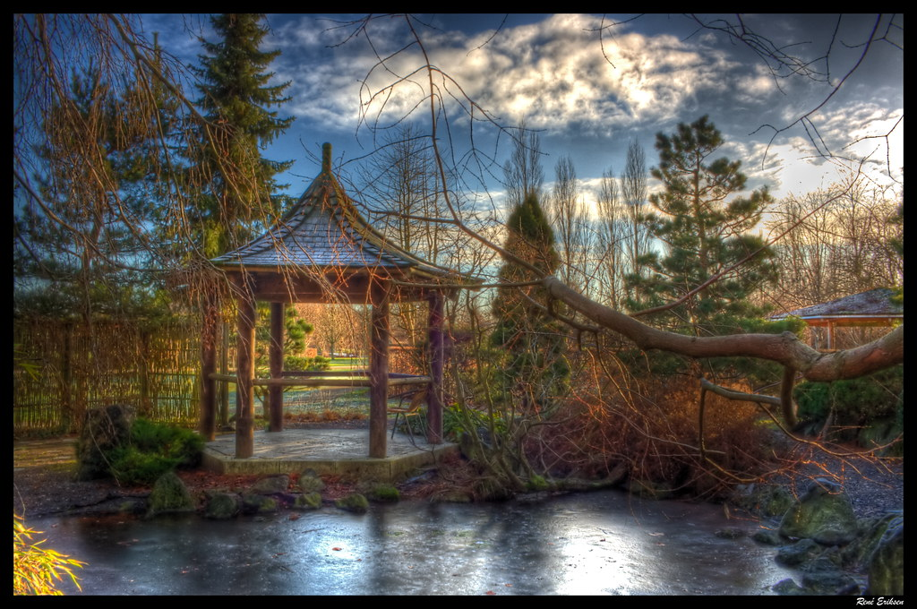 "H.C Andersen oriental garden.   An old Chinese garden expert wrote: ""If you can find a secluded place in all the noise, there is no reason to yearn for remote locations. When you have time to relax, you already know your goal and when you like, you can take your friends with the travel.""  The inspiration for this garden is taken in the Orient gardens and in the fairy tale The Nightingale of H.C. Andersen, where the bird's beautiful song got the emperor of China, see the true beauty of the simple - nature's heart.  © All rights reserved René Eriksen Contact: reeri@rocketmail.com"