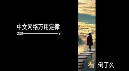 中文网路万用定律