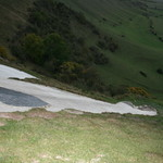 The White Horse from above - Westbury Hill, Bratton Downs, Westbury, Wiltshire, South West England
