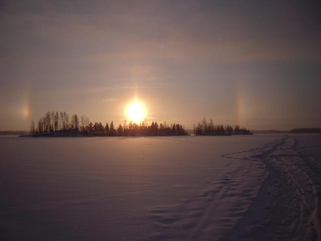 Halo solar de hielo