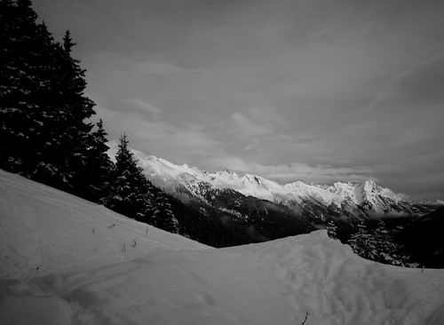 The first day of the year 2010. View from Gampen St. Anton